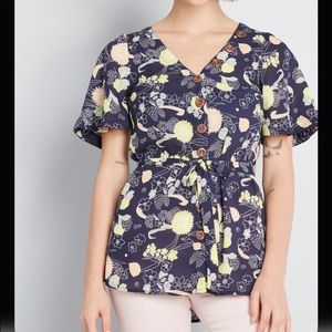 NWT ModCloth With The Breeze Blouse
